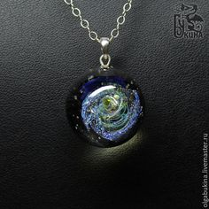 Купить Кулон галактика Космическая роза. Серебро. Вселенная. Звездное небо - серебро 925 пробы
