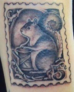 Tattoo Inspiration - Worlds Best Tattoos :Squirrel Stamp Tattoo: