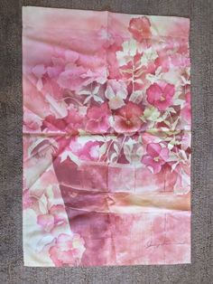 Garden Decorative Flag Judy Farmer Pink Pansies Pansy Flowers Spring #Unbranded