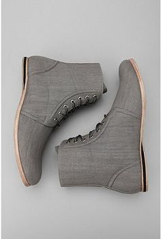 high ankle grey shoes