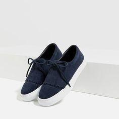 BAMBA PIEL FLECOS-Zapatos planos-ZAPATOS-MUJER | ZARA España