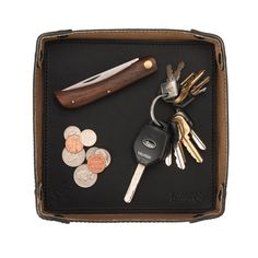 Genuine Leather Valet Tray Removable tray - 7