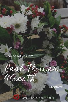 Best Screen Funeral Flowers with ribbon Style Whether that you are organizing or perhaps participating, funerals are normally some sort of somber and often . Funeral Flower Arrangements, Funeral Flowers, Wreaths For Funerals, Diy Wreath, Wreath Making, Real Flowers, How To Make Wreaths, Diy Crafts For Kids, Step By Step Instructions