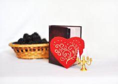 Fridge magnet Cross Stitch Heart Souvenirs lovers от TimeForStitch