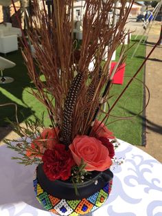 Standerton traditional african wedding lounge furniture www.secundatents.com African Wedding Theme, African Theme, Traditional Wedding Decor, African Traditional Wedding, Wedding Lounge, Wedding Reception, Zulu Wedding, Tropical Floral Arrangements, Wedding Centerpieces Mason Jars