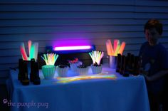 WHAT?! @Jess Pearl Lohner, @Rachel Ferchak, @Kirstin Nielsen Allinson they stole my rave wedding reception idea!!//Glow Station from the brilliant... The Purple Pug: A Midsummer's Night Tiny Rave