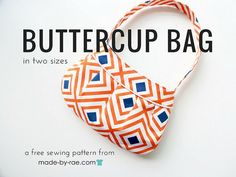 The beloved Buttercup Bag sewing pattern is now free in both sizes! To get your very own copy, please sign . Purse Patterns Free, Free Printable Sewing Patterns, Bag Pattern Free, Handbag Patterns, Wallet Pattern, Bag Patterns To Sew, Tote Pattern, Free Sewing, Printable Crafts