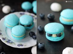 Macarons 101 - How to bake perfect macarons | Blaubeer Macarons backen Tipps für perfekte Macarons