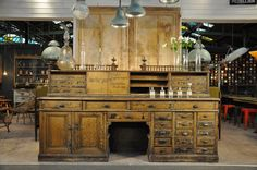 Unique painted apothek counter c.1880