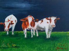 Hollandse luchten - acryl op doek 30 x 40