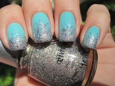 Sparkly Vernis: China Glaze Ray-Diant gradient