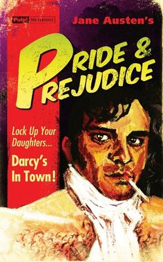 Pulp paperback redesigns of classics.