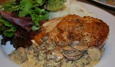 Sauteed Chicken with Mushroom-Dill Cream Sauce