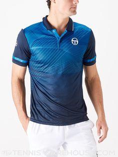 5222c3c90d1d Sergio Tacchini Men s Spring Accel Polo. Tennis WearTennis WarehousePoloPolosPolo  ShirtTee Shirt