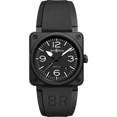 Black Ceramic Bell & Ross Aviator Watch