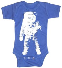 Baby Boy Bodysuit  Astronaut space geek baby by happyfamily, $16.00    Awesome.