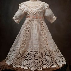 antique doll dress | Antique doll dress has been re-sold on the Thuillier doll Antique ...