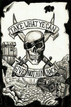 Tattoo sleeve pirate quotes 62 Ideas for 2019 Pirate Tattoo Sleeve, Sleeve Tattoos, Pirate Tattoo Back, Pirate Girl Tattoos, Pirate Quotes, Tatuaje Old School, Pirate Life, Jolly Roger, Pirate Theme