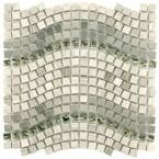 Merola Tile Tessera Wave Mercury 11-3/4 in. x 12-1/4 in. x 8 mm Glass, Stone and Metal Mosaic Tile-GSDTWVMC - The Home Depot