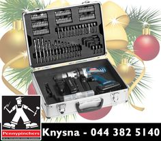 Spoil your dad this festive season with this awesome 158 piece Ryobi drill driver kit, available from Pennypinchers Knysna. #Pennypinchers #Christmas #Ryobi