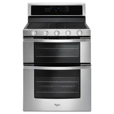 Buy the Whirlpool Stainless Steel Direct. Shop for the Whirlpool Stainless Steel 30 Inch Wide 6 Cu. Free Standing Gas Range with SpeedHeat Burner and True Convection Cooking and save. Double Oven Kitchen, Double Oven Range, Kitchen Oven, Kitchen Appliances, Kitchens, Freestanding Double Oven, Convection Cooking, Gas Oven, Stove Oven