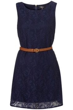 love navy blue. love the belt! I have to get a cute belt like this for every time I leave the house..which not often b/c I'm sick..but hey a girl can dream!