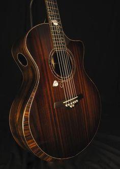 Stehr small jumbo guitar. Sinker redwood top over Brazilian rosewood www.stehrguitars.com/