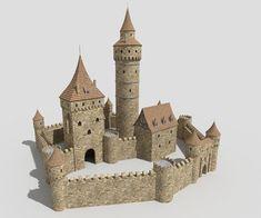 Tabletop Fix: Total Battle Miniatures - New Early Medieval Range Building Concept, Model Building, Minecraft Designs, Minecraft Houses, Medieval Castle Layout, Model Castle, Mini Mundo, Nottingham Castle, Cardboard Castle
