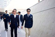 http://chicerman.com  billy-george:  Korean suit styling. Seoul Fashion Week Photo by Fucking Young!  #streetstyleformen