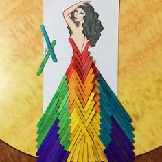 Illustrations are mixed with everyday elements - Simple Craft Ideas Illustrations are mixed with eve Fashion Artwork, Fashion Design Drawings, 3d Fashion, Art Du Collage, Stick Art, Art Diy, Fashion Illustration Sketches, Creative Artwork, Craft Stick Crafts