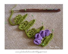 """SPEAKING OF CROCHET"": BAR CROCHE flower petals CONE norminha"