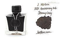 J. Herbin Stormy Grey Ink - 1670 Anniversary - 50 ml Bottle - J. HERBIN H150/09
