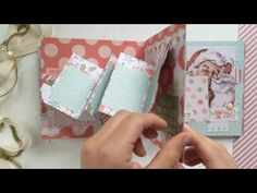 Мастер-класс Поднимающийся элемент (интерактивный элемент) - YouTube Mini Scrapbook Albums, Mini Albums, Tarjetas Pop Up, Paper Crafts Origami, Twas The Night, Up Book, Pop Up Cards, Paper Toys, Christmas Stockings