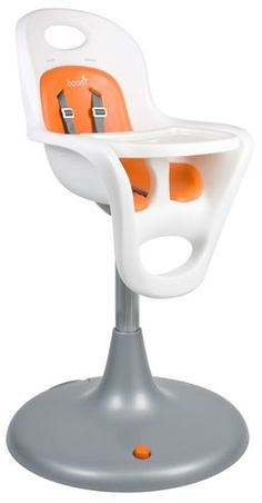 Boon Flair Pedestal Highchair. Glide smoothly with castor wheels, and clean easily with no cracks or crevices. Safe, comfortable and hygienic for your kids as they grow.