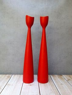 Candlesticks red candle holder