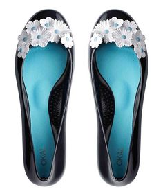 b21d04d9a Take a look at this Licorice Flower Gisele Flat by OKA b. on  zulily
