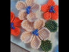 Video: B&B Flower Project - YouTube #Seed #Bead #Tutorials