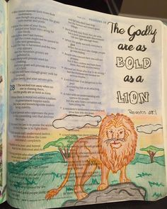 The Godly are as bold as lions My Bible, Bible Verses, Mortar And Pestle, The Fool, Proverbs, Lions, Bullet Journal, God, Journaling