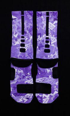 Custom Nike Elite Socks for Lebron 11 BHM Shoes by Thesockgame