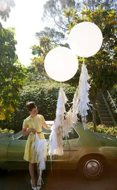 Big balloons with tassels