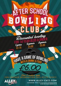 After School Bowling Club poster for Alley Catz Bowling