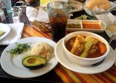 Sopa De Pata: This is a typical salvadroean dish. A hearty soup made from cow's feet, tripe, yuca (manioc root), guisayotes (chayotes), elotes (sweet corn), platanos (bananas), and ejotes (string beans). It may be seasoned with hojas de alcapate (Mexican coriander leaves) and flavored to taste with limón (lemon) or chile.