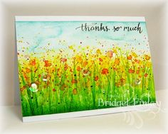 F4A232 Watercolor Wildflowers by bfinlay - Cards and Paper Crafts at Splitcoaststampers