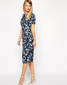 ASOS | ASOS Wiggle Dress in Butterfly Print at ASOS