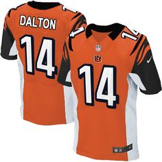 Nike Elite Men's Cincinnati Bengals #14 Andy Dalton Alternate Orange NFL Jersey$129.99