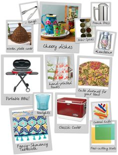 Let's Go Glamping! {Make Your Own Cute Camping Kit}