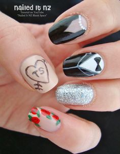 Nailed It NZ: Taylor Swift - Blank Space | Nail Art Tutorial http://www.naileditnz.com/2014/12/taylor-swift-blank-space-nail-art.html
