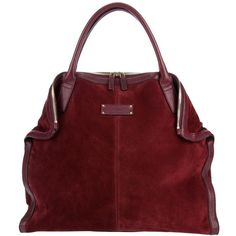 ALEXANDER MCQUEEN suede tote (€905) ❤ liked on Polyvore featuring bags, handbags, tote bags, purses, borse, сумки, tote purse, foldover tote, foldable tote and handbags purses
