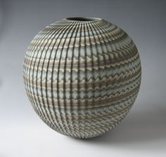 hajandradeye:  Neriage shumon tsubo Neri = Mix (Japanese) [refers to the different colors of clay]age = To pull up … i.e. pot thrown on a wheel (via 50thhigashinihon - new site 001)