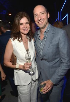 Pin for Later: Stars Kick Off the Emmy Celebrations!  On Thursday, Tony Hale met up with Breaking Bad's Betsy Brandt.